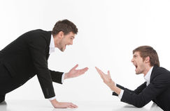 Men confrontation. Stock Photo