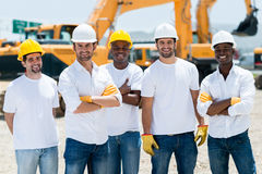 Men at a construction site Royalty Free Stock Images