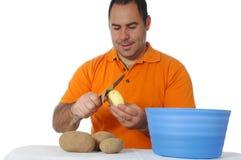 Men cooking Royalty Free Stock Image