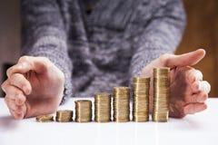 Men counting money! Studio shots Royalty Free Stock Photography