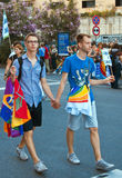 Men couple. Gay Pride 2009 Stock Images