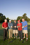 Men on Course with Clubs Stock Images