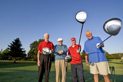 Men on Course with Clubs Stock Photos