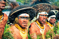 Men covered in mud in Papua New Guinea Royalty Free Stock Photos