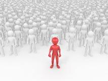 Men in crowd. stock illustration