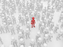 Men in crowd. Royalty Free Stock Photography