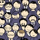 Men crowd, seamless pattern for your design Royalty Free Stock Photography