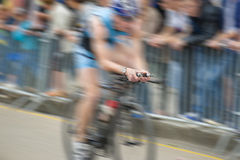 Men in cycling race. Zooming on hands  in cycling race Royalty Free Stock Image