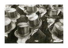 Men with cylinders. Young and elegant men with cylinders Royalty Free Stock Photos