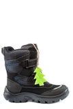 Men& x27 da forma do inverno; bota de s no fundo branco Foto de Stock Royalty Free