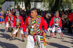 Free Men Dancing At The Festival Of Indigenous People In South America, North Chile Royalty Free Stock Images - 200348469
