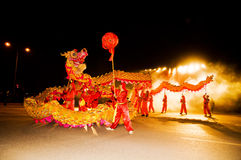 The men dancing dragon Royalty Free Stock Image