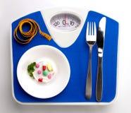 Menú de la dieta en escala Fotos de archivo libres de regalías