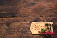Menú de la Navidad Foto de archivo libre de regalías