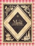 Menú de la vendimia Foto de archivo