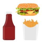 Men? de los alimentos de preparaci?n r?pida Imagen de archivo libre de regalías