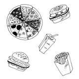 Men? de los alimentos de preparaci?n r?pida Foto de archivo