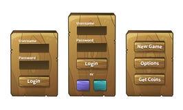 Menú de madera del vector Fotografía de archivo