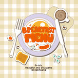 Menú del desayuno. Foto de archivo libre de regalías
