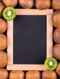 Menú del kiwi de la fruta Imagen de archivo libre de regalías