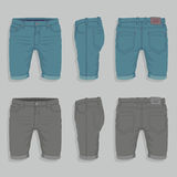 Men Denim Shorts Royalty Free Stock Photo