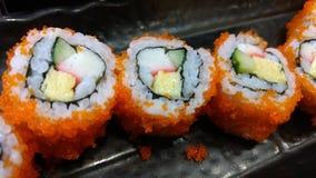 Menú determinado del sushi japonés Imagen de archivo