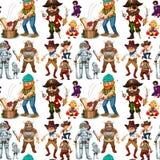 Men in different costume Stock Image