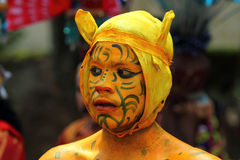 Men with different costumes participates in Atha chamayam at kochi Stock Images