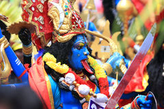 Men with different costumes participates in Atha chamayam at kochi Stock Image