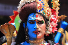 Men with different costumes participates in Atha chamayam at kochi Stock Photo