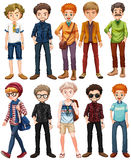 Men in different outfit Stock Photo