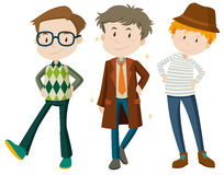 Men in different poses vector illustration