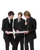 Men discussing a plan Royalty Free Stock Photography