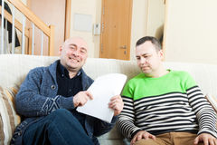 Men with documents Royalty Free Stock Photo
