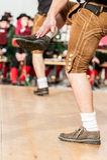 Men doing an austrian folk dance Stock Photography