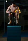 Men Doing Box Jump Stock Image