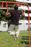 Men doing fitness Stock Photo