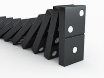 Men with domino Royalty Free Stock Photos