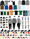 Men Dress Collection. Conceptual illustration Stock Images