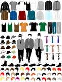 Men Dress Collection stock illustration