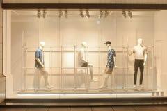 Men dress shop window Stock Image