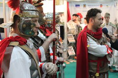 Roman soldiers in armor Stock Image