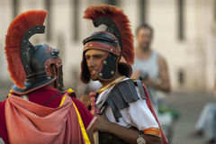Men dressed up as a Roman legionnaire Royalty Free Stock Photos