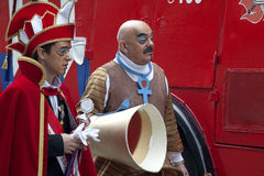 Men dressed up, carnival, Belgium Stock Photography