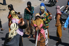 Men dressed women Royalty Free Stock Photography