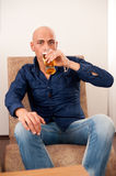 Men drinking beer Royalty Free Stock Photos