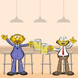 Men drinking beer in the bar Royalty Free Stock Photo