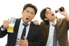 Men drinking beer Royalty Free Stock Photos