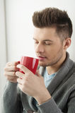 Men drinking coffee. Stock Photos