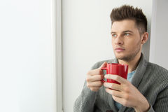 Men drinking coffee. Stock Images